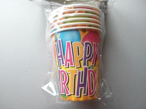 Kubki urodzinowe 6 szt